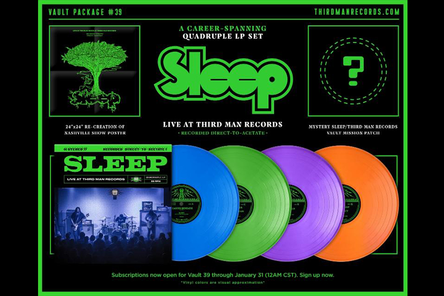 Stoner Metal Kings Sleep Detail 'Live at Third Man' Vinyl Release